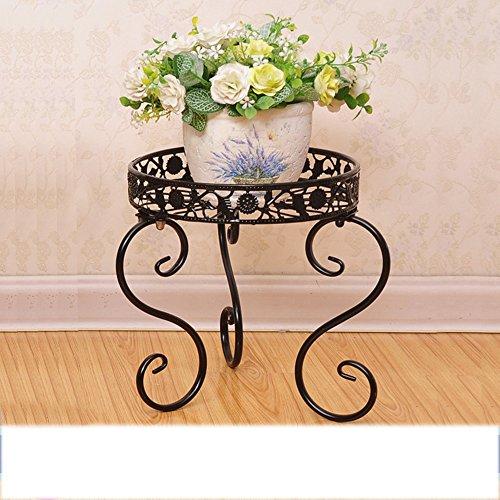 LQQGXL Balcon floral de style européen balcon pot de fleurs à plusieurs étages pot fleur multi-usages Support de fleurs ( Couleur : Noir , taille : 20cm )