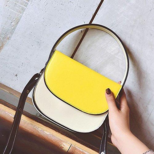 frauenart und Weise schlagfarbe stereotypen Bewegliches kleines quadratisches paket einfache Schulter Kurierbeutel Gelb