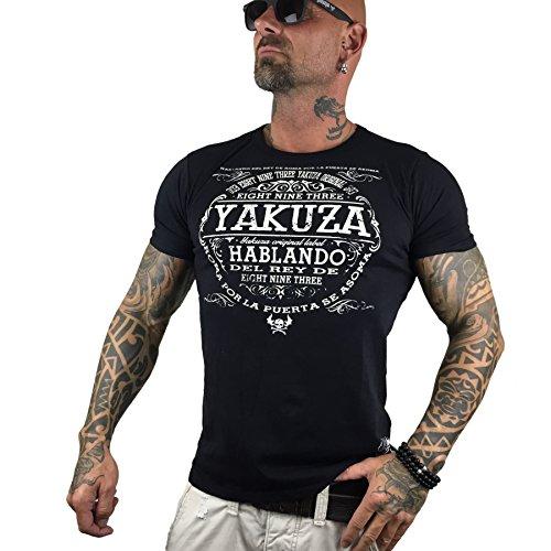 Yakuza Original Herren Del Rey T-Shirt Schwarz