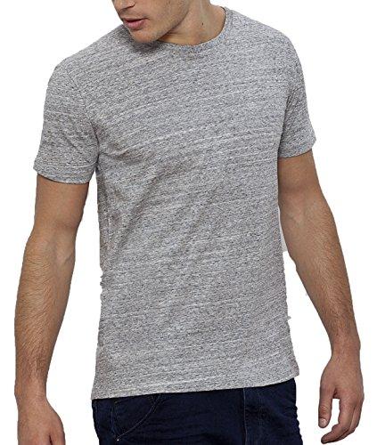 YTWOO Herren Rundhals Tshirt aus 100% Bio-Baumwolle- in Diversen Farben Schwarz und Weiß bis 2XL - Organic (L, Slub Heather Grey) (Weiches Baumwoll-t-shirt)