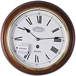 Seiko Wall Clock (31.4 cm x 31.4 cm x 4.4 cm, Brown, QXA143BN)