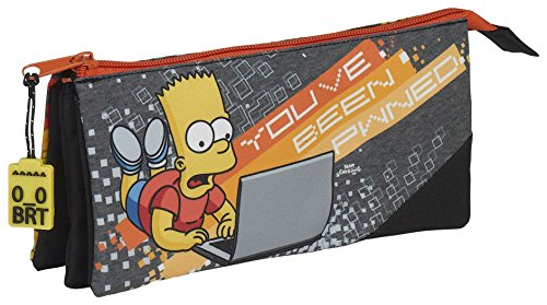 Safta Estuche Escolar The Simpsons «Technology» Oficial 220x30x100mm