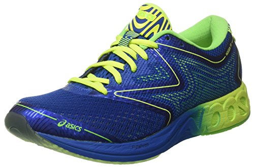 Asics T772N, Zapatillas de Running Hombre, Multicolor (Imperial/Safety Yellow/Green Gecko), 43.5 EU