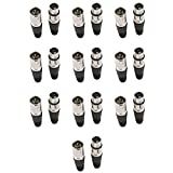 10pares Male & Female XLR de 3pines Mic Micrófono Cable de audio enchufe conectores