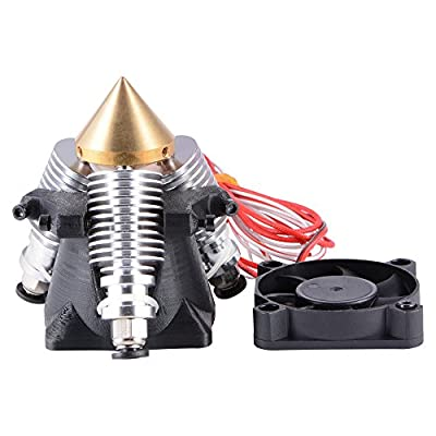 XCSOURCE® 3 in 1 aus Mehrfarbig Extruder Hotend 0,4mm Düsenventilator Kühlkörper für 3D Drucker TE603
