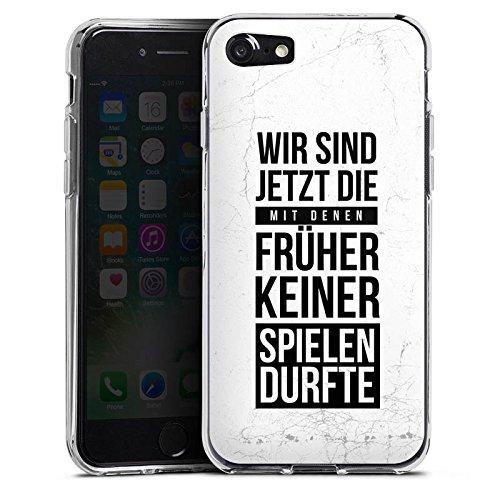 Apple iPhone X Silikon Hülle Case Schutzhülle Humor Spaß Sprüche Silikon Case transparent