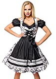 Dirndline - Vestito Dirndl - Cocktail - Donna Nero XXL
