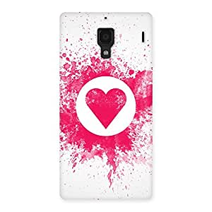 Enticing Splash Heart Back Case Cover for Redmi 1S