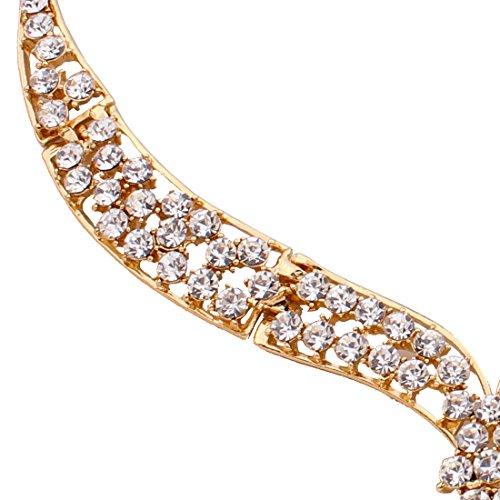QIYUN.Z Kette Anhänger Gold Frauen Kette Collier Harz Schmuck Ohrring Armbandring - 6