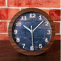 DIDADI Alarm clock Eine idyllische Natur Holzschnitzerei style Wecker Holz rustikale Retro kreative Tischuhr ultraleise... preisvergleich bei billige-tabletten.eu