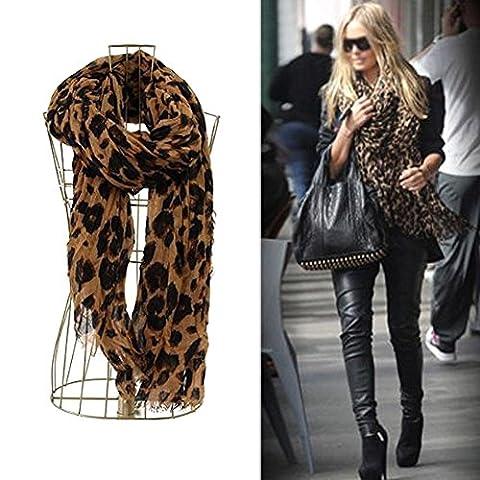 Tia-Ve Mélodie Femmes Mode motif léopard Animal Print Shawl Scarf Wrap