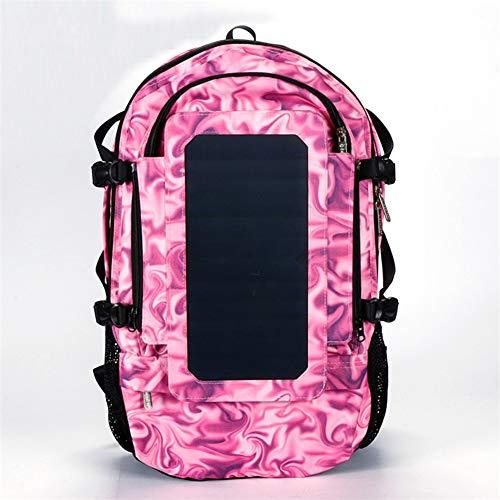 OLDWANG 6.5 Watt Solar Rucksack Solarpanel Solar-Panel Rucksack mit USB Ladeanschluss Stadt Ladegerät Smartphones 35L für iPhone 7 / 7s / 6s / 6, iPad Air 2 / Mini 3, TabletRose Red