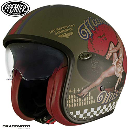 CASCO HELMET JET PREMIER VINTAGE EVO PIN UP MILITARY BM L