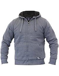 Dissident By Tokyo Laundry - 088 Veste Haut Capuche Sweat Pour Homme Doublé Polaire Sherpa Lourd Hiver Neuf
