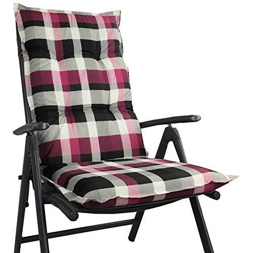 Hochlehner Auflage für Gartenstühle 120x50x8cm - Premium Stuhlauflage mit Komfortschaumkern und...