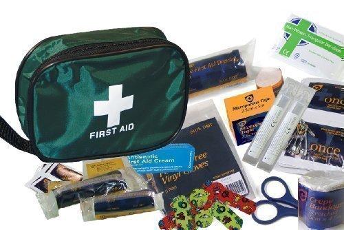 Kinder Erste Hilfe Set (50 Stk) - Beinhaltet Antiseptisch Creme & Augenspülung (Kinder-reise-erste-hilfe-kit)