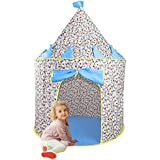 Children Play Tent - Kids Mickey Castle Playhouse Portable Pop Up Tent, Comes with Carrying Case and White LED Star Light String by Wonder Space, Indoor/Outdoor Use, Ideal Gift for Boys & Girls (Blue)