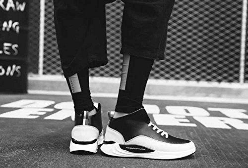 Uomini Scarpe Da Ginnastica Traspirante 2017 Autunno Inverno Scarpe Da Basket Di New Street Basket Scarpe Da Corsa Leggero Bianca