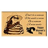 Incredible Gifts Personalized Women's day Engraved wood (7x4 inches)