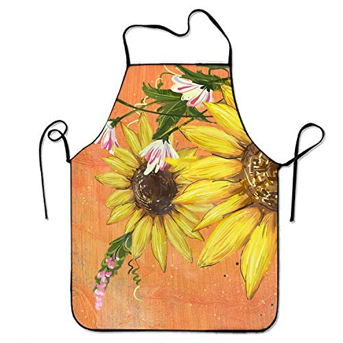 xuanwuhuisheng188 Sunflower Tiny Daisy Tool Apron Cooking & Gardening Aprons -