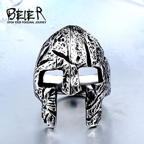 ZUXIANWANG Ring Edelstahl Mann Skull Ring einzigartig gestalteten Rom Maske Halloween Party Punk Rock Schmuck, 11. (Maske Halloween 11)