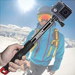 Homeet 49CM Asta Selfie Bastone Retrattile Lega di Alluminio Impermeabile Adjustable per GoPro Hero 6/5/4/3+/3/2/Session/SJCAM/Garmin Virb XE/Yi 4K/DBPOWER/QUMOX /Akaso/Apeman,【ROSSO】