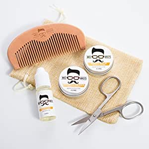 mo bro 39 s grooming kit moustache wax beard balm oil comb scissors gift bag vanilla. Black Bedroom Furniture Sets. Home Design Ideas