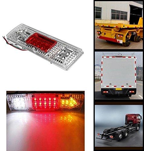2x arri/ère Feux de r/écup/ération de queue pour ch/âssis de camion camion remorque caravane