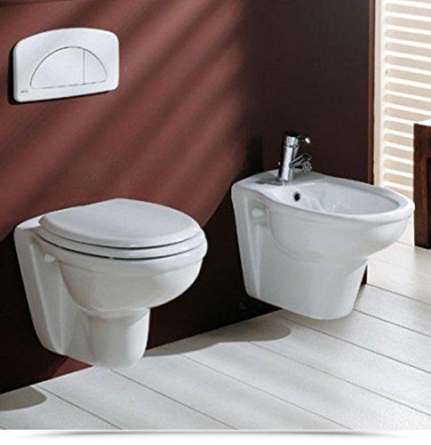 Sanitari per Bagno Vaso WC e Bidet Sospesi Ceramica Moderni bianco sanitario |12