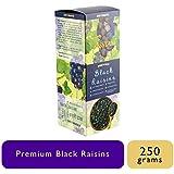 Tassyam Premium Seedless Black Afghan Raisins 250g Kali Draksh | Healthy Dry Fruits Luxury Box by Tassya