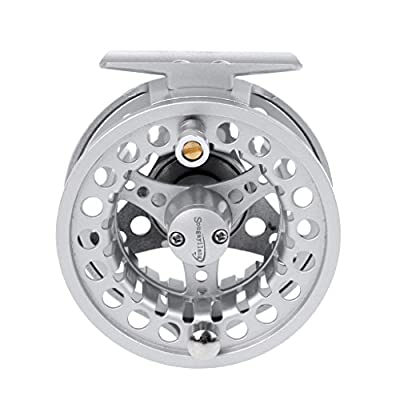 MagiDeal Fly Fishing Reel with CNC-machined Aluminum Body 5/6 Weights Left/Right Fly Reel (Black, Silver) from MagiDeal