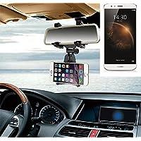 Supporto Smartphone specchietto retrovisore per Huawei G8, nero | Specchio Holder staffa auto - K-S-Trade (TM) - Guida All'acquisto Holder