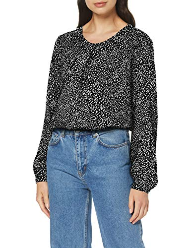 Seidensticker Damen Shirtbluse Langarm modern fit Gepunktet-100{56f485aa76501467189143c45c1a416abfb5f20d7901a330a39397e021d859d9} Viskose Bluse, Mehrfarbig (Schwarz 38), (Herstellergröße: 48)