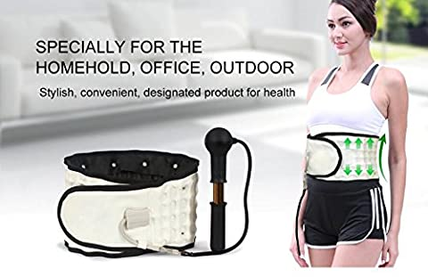 Express Panda® Spinal Air Traktionsgürtel für Lenden- und Rückenstütze - Physio Dekompressionsträger Luftdruckgurt, liefert Rückenschmerzen und maximale physische (Voltaren Salbe)