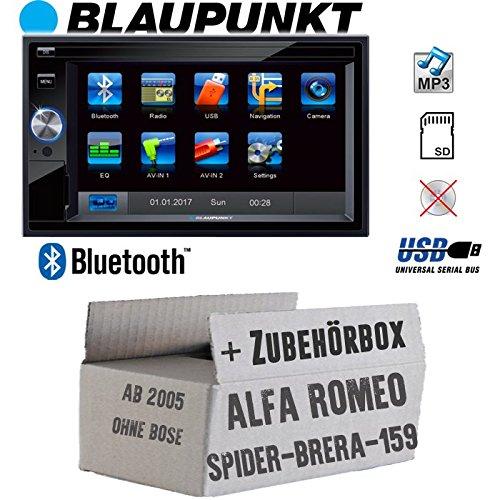Alfa Romeo 159 Spider Brera Navi - Autoradio Radio BLAUPUNKT Santa Cruz 370 Bluetooth SD USB 6,2\' TFT Display Touch - Einbausatz - Einbauzubehör - Einbauset
