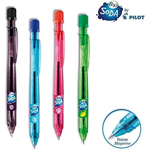 Penna B2P Soda sfera Pilot riciclata retrattile sfera sottile penna sfera riciclata blu