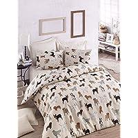 Eponj Home Double Quilt Cover Set - Duvet Cover: 200 x 220 cm Pillowcase: 50 x 70 cm (2 Piece)