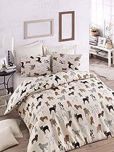 Luxuriöses Bettwäsche-Set, 3 Stück, aus Baumwolle