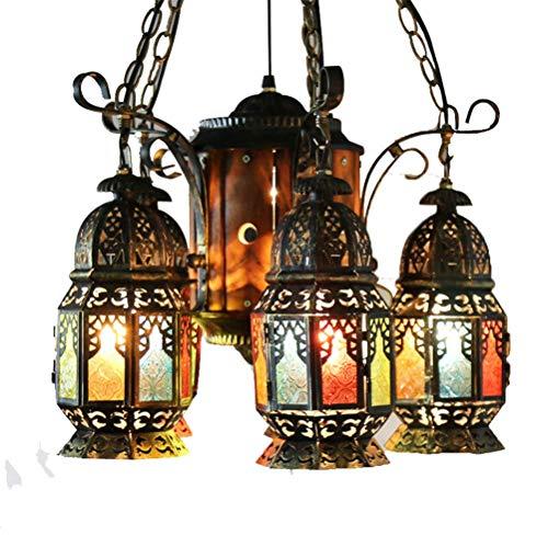 YAMEIJIA Farbig Geschmiedete Eisenleuchter-Café Bar Western Restaurant Creative Restaurant Beleuchtung E27-Ohne Lichtquelle 220V - - Deckenleuchte Geschmiedet