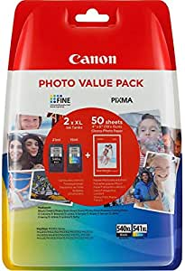 Canon PG-540XL and CL-541XL Photo Value Pack - Multi-Coloured