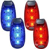 WINOMO LED Sicherheitslicht 4-Pack-Lauflicht Reflektierende Ausrüstung für Läufer Bikes Boote mit hoher Sichtbarkeit Clip Licht für Laufen Walking Jogging