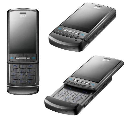 LG Shine KE970 Handy (Triband, EDGE, USB-Speicherfunktion, Kamera, MP3-Player, microSD-Kartenslot) titanium schwarz