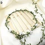 WuWxiuzhzhuo Große Förderung Hochzeit Party Decor Blumenkranz Blume Festival Stirn Stirnband Haar Garland White