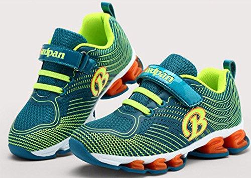 Sportliche Jungen Atmungsaktive Bunte Abfederung Neue Schnürsenkel Laufschuhe Sommer Bequeme Turnschuhe Sneakers Sapphire