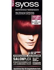 Syoss Haarfarbe, 4-22 Leuchtendes Rot-Violett, 3er Pack (3 x 115 ml)