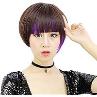 love peluca mullida hermosa cabeza BOBO recta corta peluca de pelo chica de moda