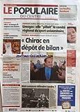POPULAIRE DU CENTRE (LE) [No 259] du 07/11/2005 - VENTE DE BOIS - LES FEUILLUS FLAMBENT - FOOTBALL - CFA 2 - LE LIMOGES FC TOUJOURS SANS VICTOIRE - BASKET - LE CSP A SEULEMENT PU FAIRE FRONT - NF1 ET 2 - SPORTS V - BONNE OPERATION POUR LE LABC ET LE FCL FEYTIAT - RUGBY - FEDERALE 3 - DEUX SUR CINQ - PROPOS D'UN JOUR - TROUS EN FORMATION - QUAND UNE CHAUSSEE COMMENCE A SE DEGRADER - JUSTICE - 19.000 +ä DETOURNES 10 MOIS AVEC SURSIS - LIMOGES - ELLE PILLAIT LE COMITE REGIONAL DU SPORT UNIVERSITAI...