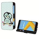 deinPhone HTC One M8 Kunstleder Flip Case Eule