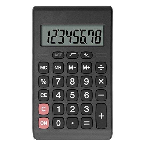 Helect Taschenrechner Kompakte Entwurf Standardfunktion Tragbarer Rechner Tischrechner, Schwarz