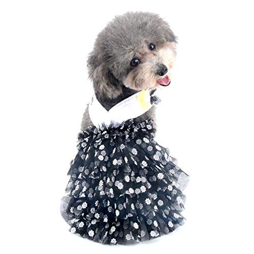 ka Dot Neckholder Prinzessin Kleid für kleine Hunde/Katze Mädchen Chiffon abgestuftes Rock Puppy Kleidung (Größe XS-XL alle für kleine Tier) ()